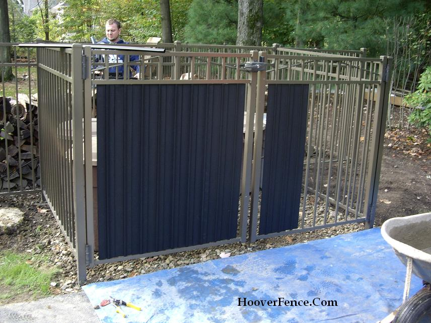 aluminum privacy fence diy ornamental slats hoover fence co