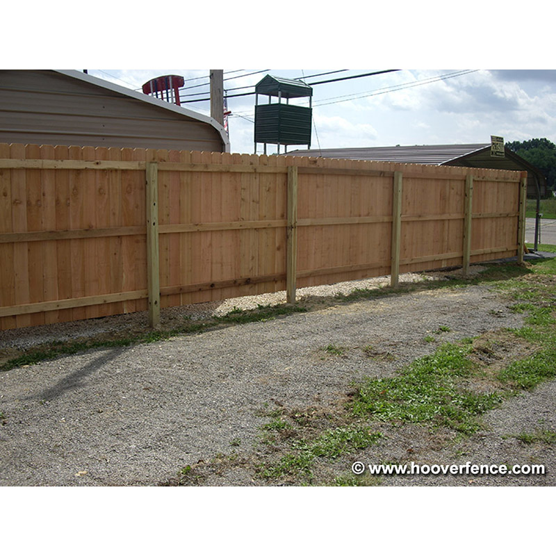 Solid Dog Ear Fence - Cedar