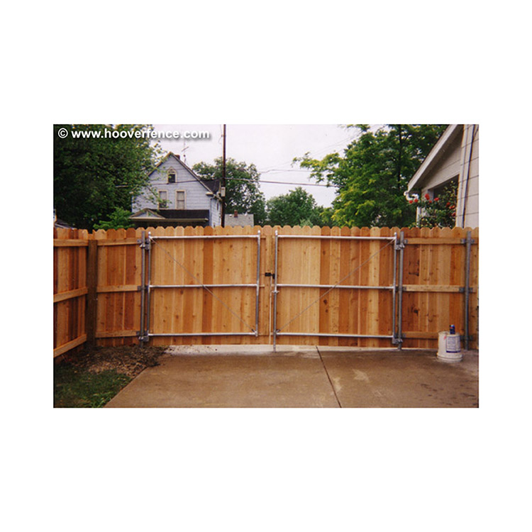 Spaced Dog Ear Fence - Cedar