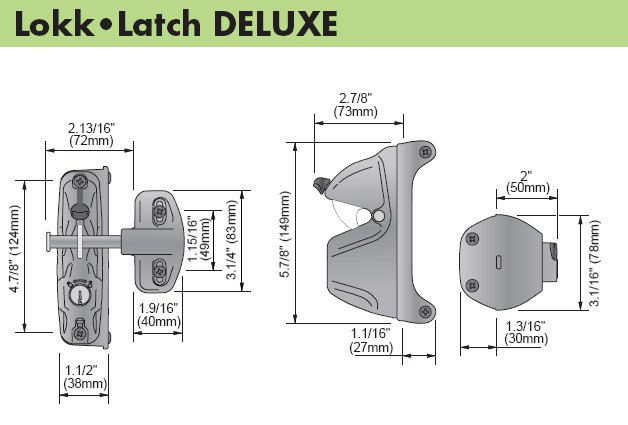 D Amp D Technologies Lokk Latch Deluxe With External Access