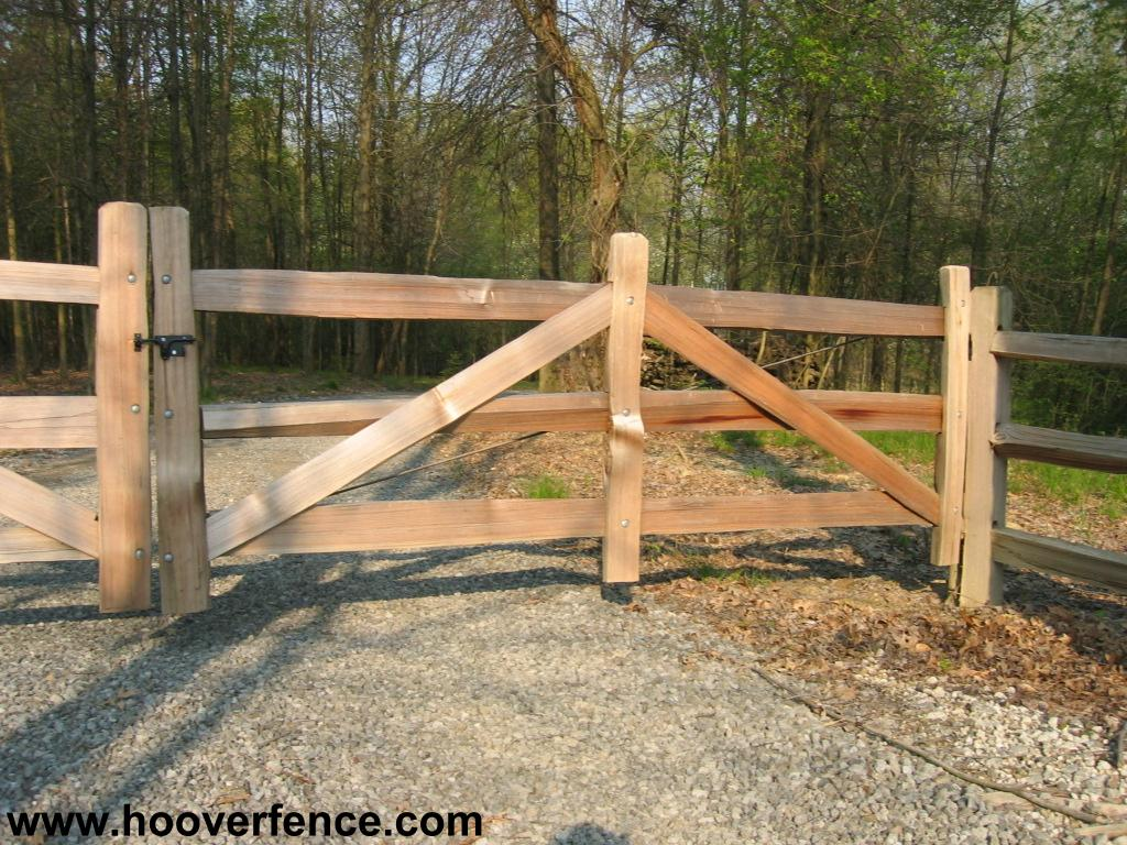 Steel Framed Western Red Cedar Split Rail Gates