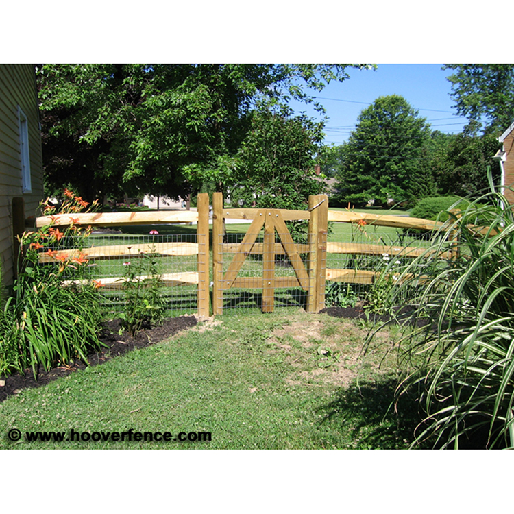 Wood Lap Rails Treated Hoover Fence Co