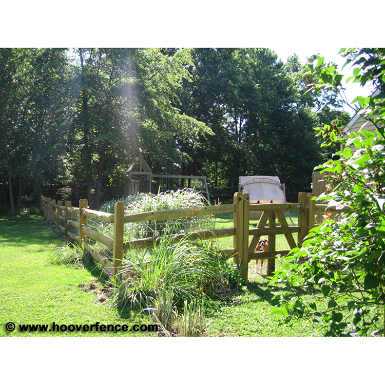 Treated Lap Rail Fence
