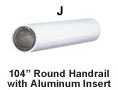 Round Vinyl Secondary Handrail - Part J