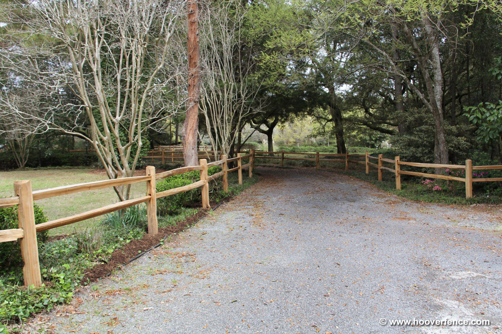 Western Red Cedar Split Rail Fence