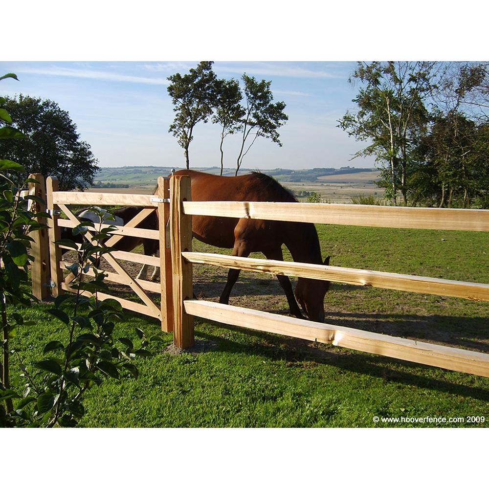 Western red cedar split rail fence jumbo standard