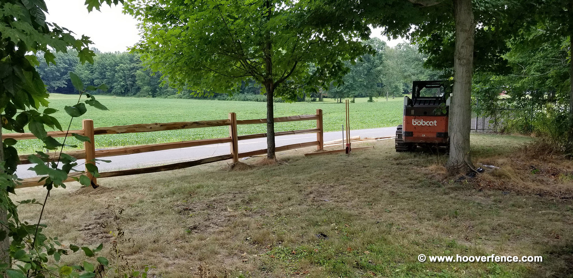 Western Red Cedar Split Rail Fence - Jumbo Grade