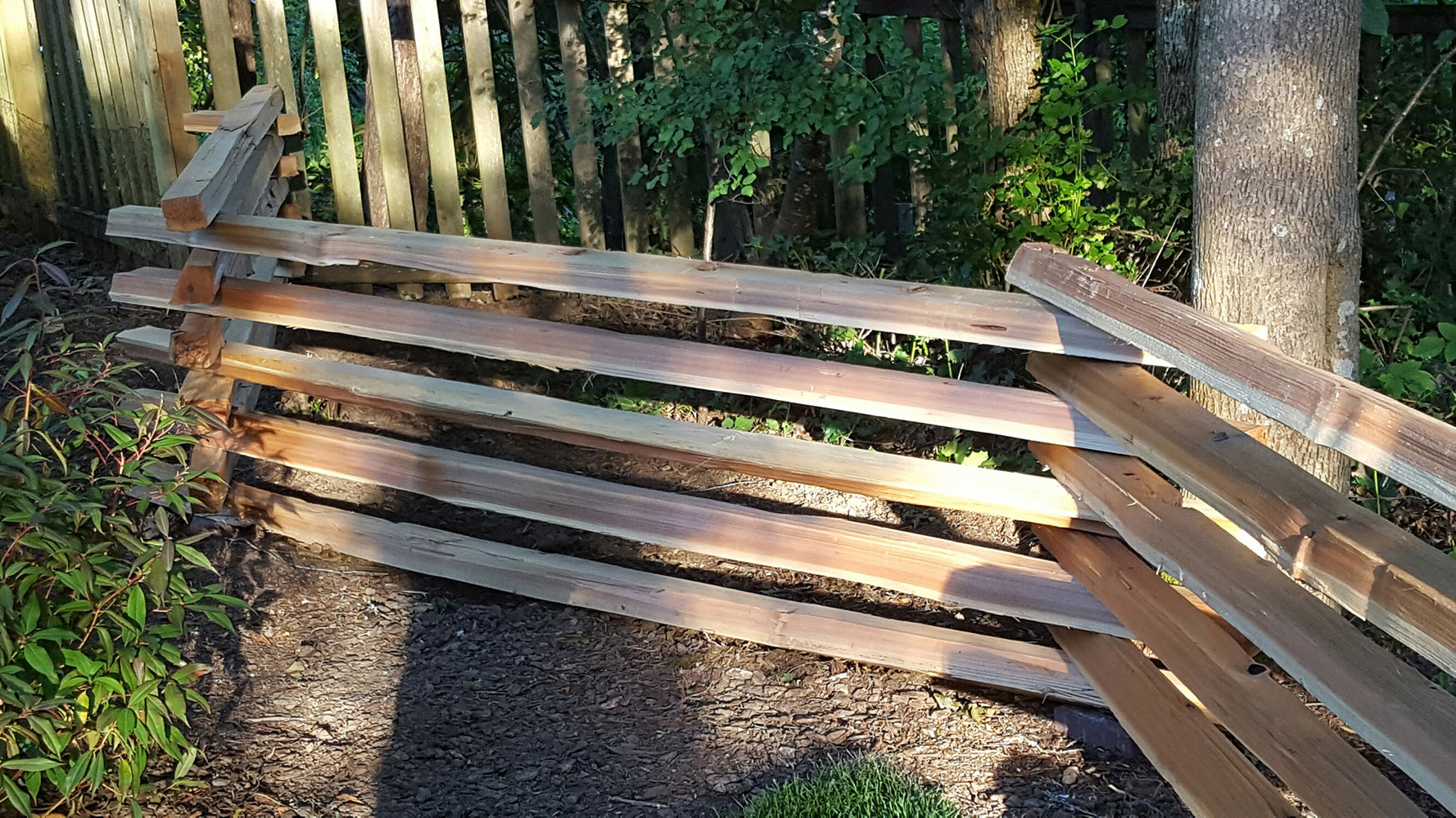 Cedar Stack Rails - Unscarfed | Hoover Fence Co.