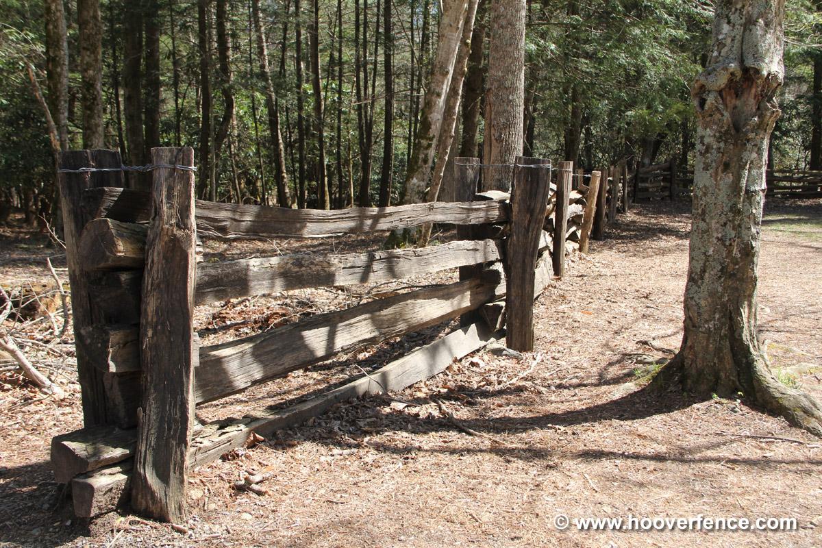 Cedar Stack Rails Unscarfed Hoover Fence Co