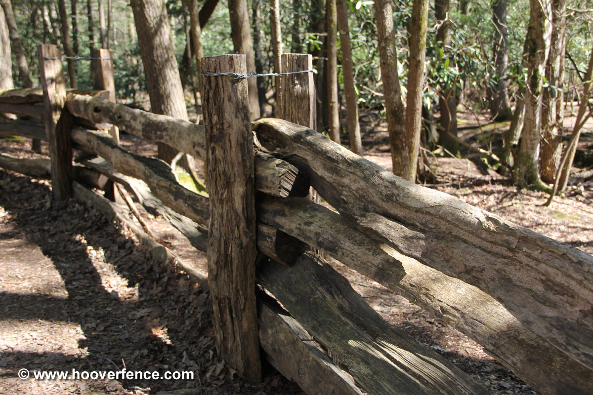 Western Red Cedar Stack Rail Fence