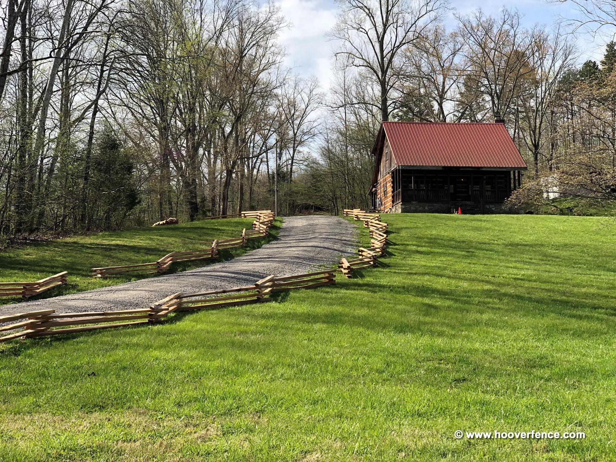 Cedar Stack Rails - Unscarfed | Hoover Fence Co