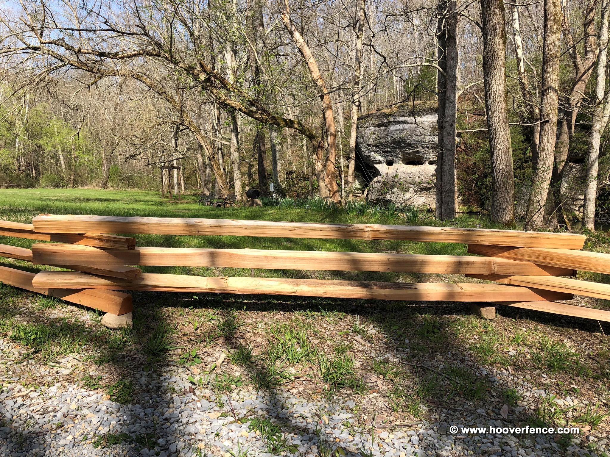 Western Red Cedar Stack Rail Fence